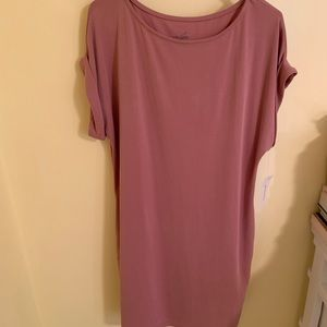 Alya Dresses - Rose colored dress with pockets
